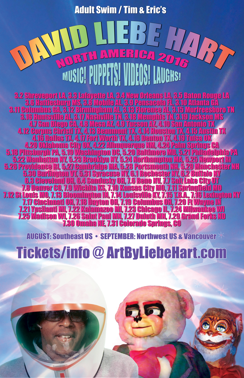 David Liebe Hart's 2016 North American Tour poster